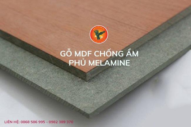 gỗ mdf chống ẩm phủ melamine