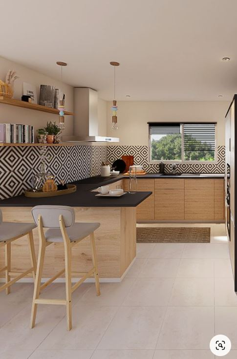 nội thất bếp sử dụng màu Melamine
